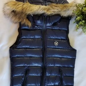 American Eagle Outfitters Vest Puffer Blue